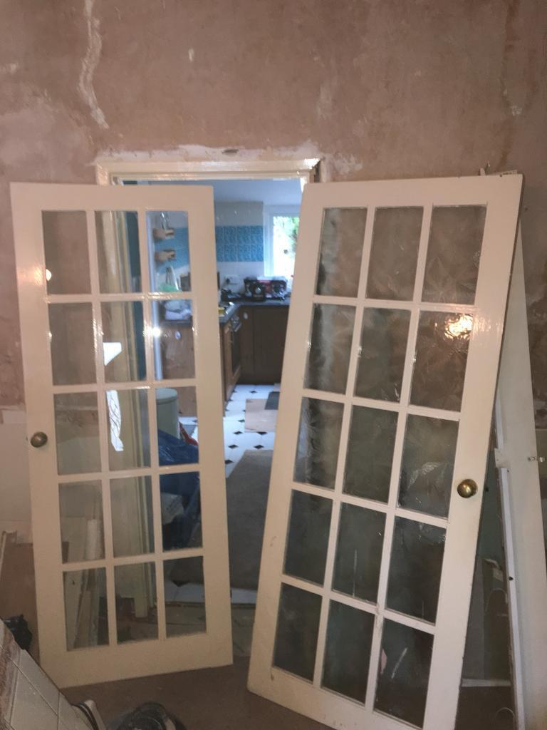 Solid Wood Glass Panel Doors For Sale In Caerphilly Gumtree
