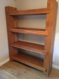 Solid oak bookshelves/ room divider/shelves