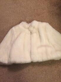 Fur coat - cream