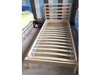 Single pine bed frame