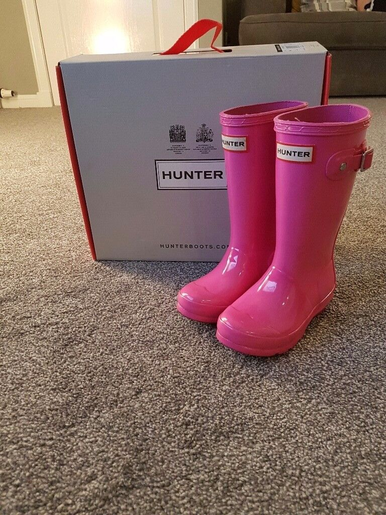 Pink Hunter Wellies size 10 infant