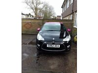 Lovely pink and black 3dr Citroen DS3.