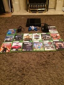 X-Box 360 for sale. Comes with Cables,Games,Controller,Console but doesn't come with HDMI.