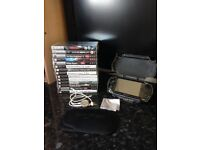 PSP and Games Bundle, protective case and travel game case
