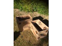 large cardboard boxes x2 07594145438