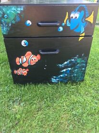 KIDS FINDING NEMO UPCYCLED FURNITURE/STORAGE