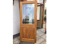 Light Oak External Glazed Doors In Victorian Style