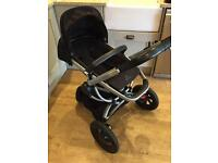 Quinny Buzz Xtra pushchair and Maxi Cosi Pebble plus car seat.