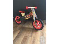 Kids Mongoose wooden balance bike