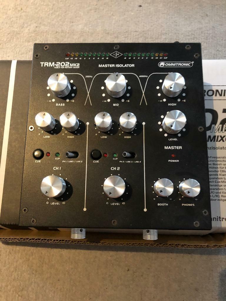 Omnitronic TRM-202MK2 rotary mixer and isolator | in Heathrow, London |  Gumtree