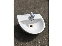 Twyfords basin with Jute mixer tap