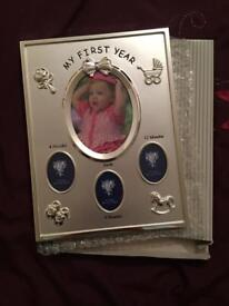 Baby first year picture frame new