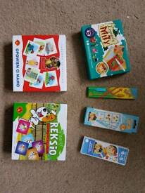 Set of games and activity cards in Polish