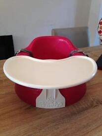 Hot pink bumbo seat and tray