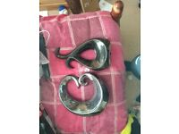 2 X grey and black or ornaments good condition