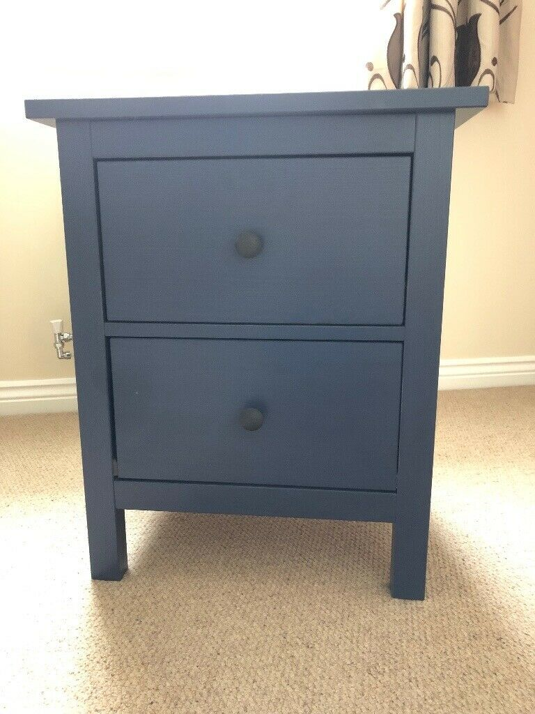 Ikea Hemnes Chest Of 2 Drawer Bedside Table Colour Navy In Exeter Devon Gumtree