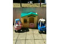 Little Tikes House and boy/girl cars