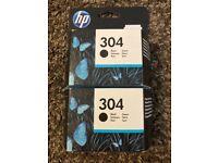 HP 304 Black Ink Cartridge x2 Unopened