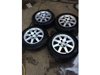 FORD FIESTA MK6 ALLOY WHEELS WITH 4 GOOD TYRES 175 65 14