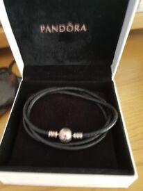 Genuine Pandora charms and Pandora rope bracelet