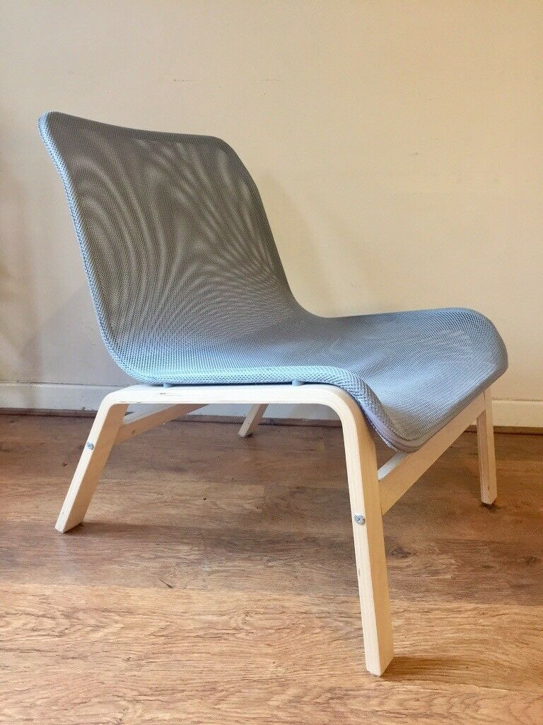 1 x ikea grey mesh chair nolmyra easy chairs for sale £30 redland