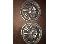 Newly refurbished BMW alloy wheels