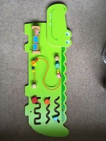 Wooden Crocodile wall activity play centre