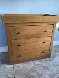 Mama s and papas chest of drawers and changing unit nursery furniture