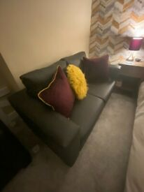 Bargain - 2 Seater Faux Leather sofa and armchair - Massive Bargain!