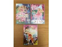 2 x Barbie DVD's & 1 Winx Club
