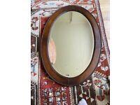 Vintage Oak Framed Mirror