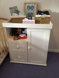 Baby changing unit/wardrobe/draws all in one.