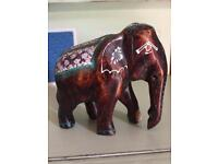 Small wooden hand painted Elephant