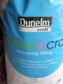 Bean Bag Filling, 1 full bag & 1 part bag about 12 cu ft from Dunhelm