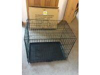 Double Door Dog Cage - Medium Size from Argos as new