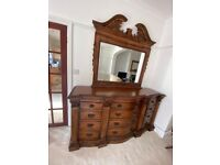 Antique cupboard in almost New Condition, chest of draws, table, stand, Dresser