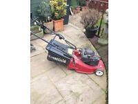 Mountfield petrol mower.