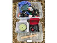 Box full of fishing gear