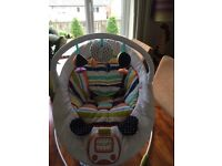 Baby sound and vibration bouncer