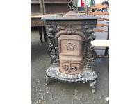 French antique cast iron stove