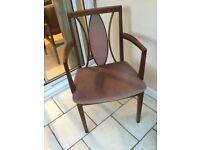 Pair of vintage carver chairs