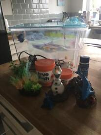 Starter fish tank with lots of accessories!