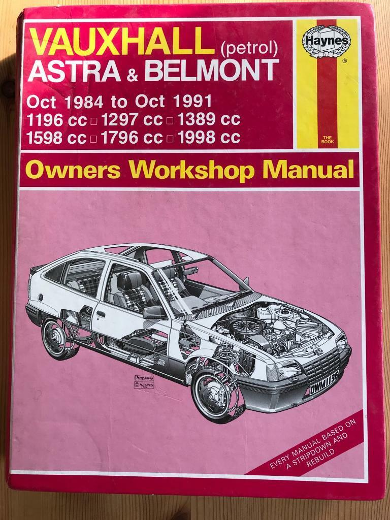 Haynes Astra and Belmont workshop manual
