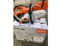 Stihl TS410 Petrol Compact and Robust Handheld Cut-Off Stone Saw 3.2KW 300mm with stone blade