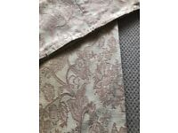 Pair of chenille fully lined curtains