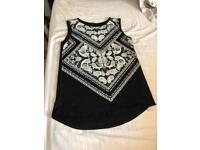 Patterned vest top- New Look (size 10)