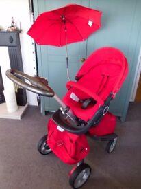 Red Stokke Xplory Stroller