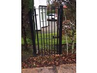 wrought iron garden /security lockable gate great condition fully powder coated