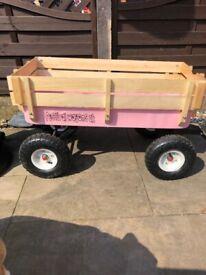 Kids pink festival wagon