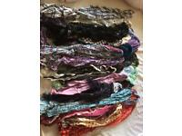 Job lot fashion scarves. Retail new, some with tags